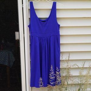 Cynthia Rowley tank dress. Side pockets.